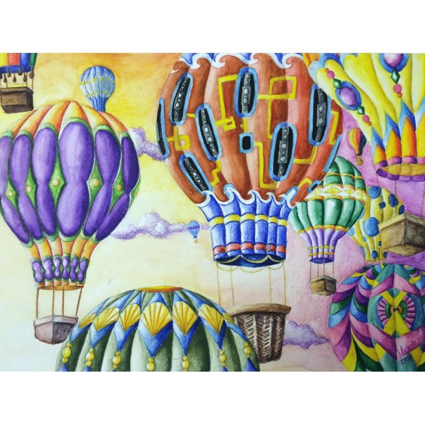 Πίνακας Ζωγραφιά με αερόστατα