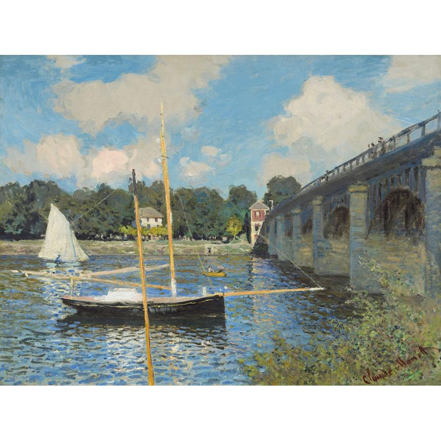 Claude Monet - Τhe Bridge At Argenteuil