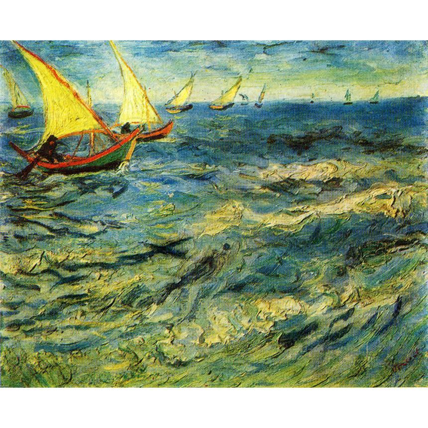 Πίνακας Vincent Van Gogh - The Sea At Saint Marie