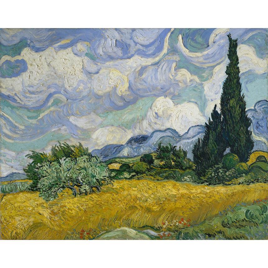Πίνακας Van Gogh A Wheatfield with Cypresses