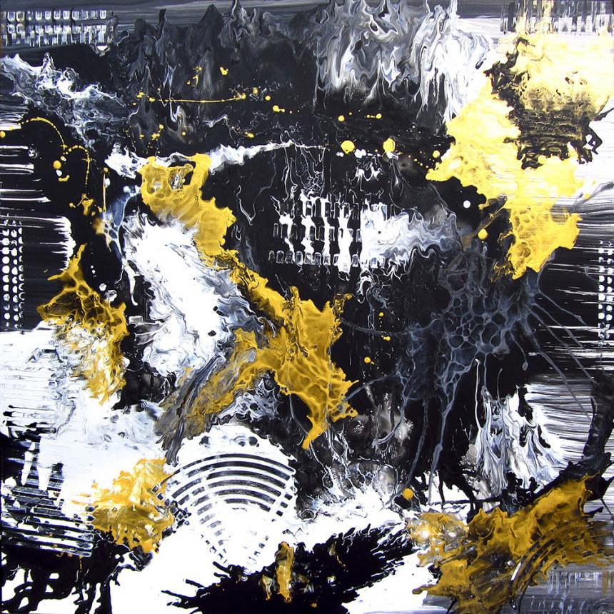Πίνακας Abstract Κύματα Χρωμάτων