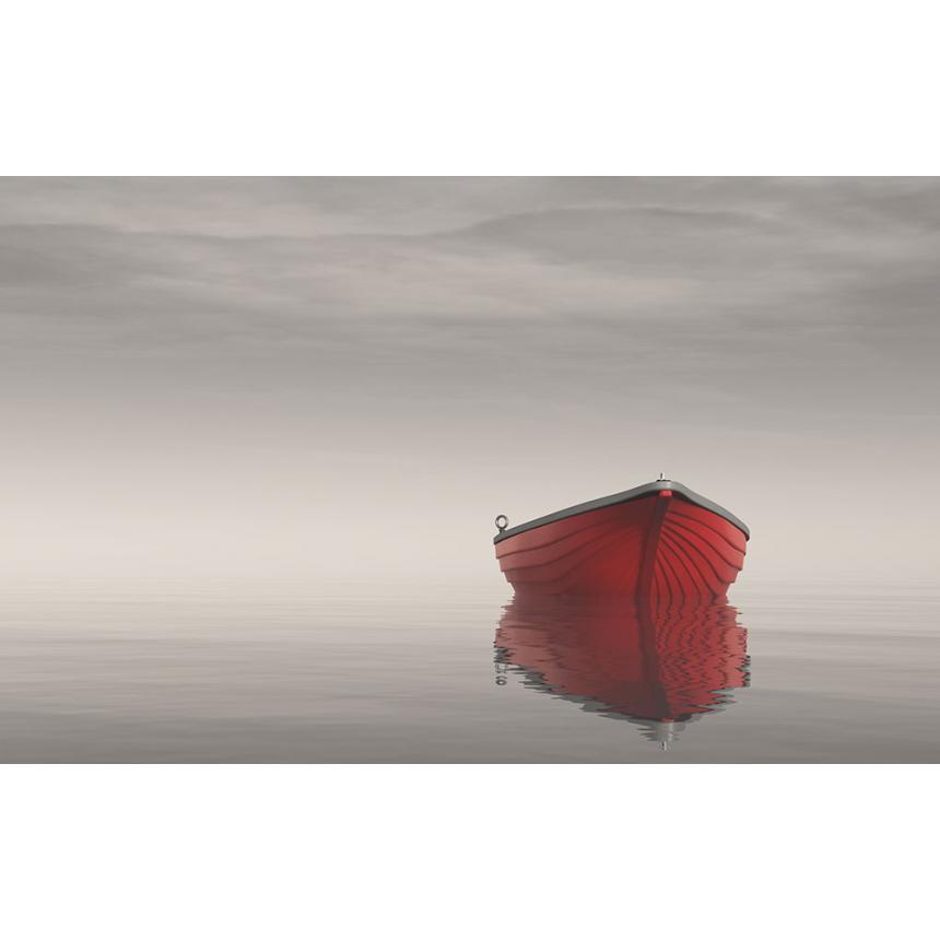 Πίνακας σε καμβά Κόκκινη βάρκα