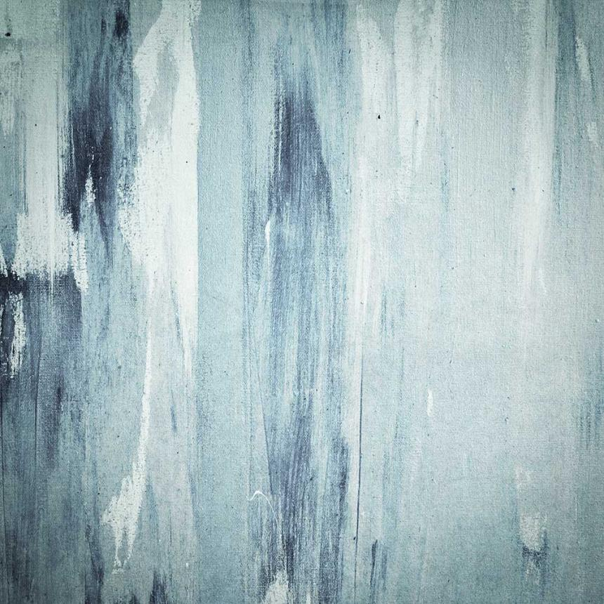 Πίνακας Abstract σιέλ άσπρο
