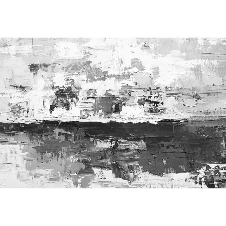 Πίνακας Abstract γκρίζος ορίζοντας