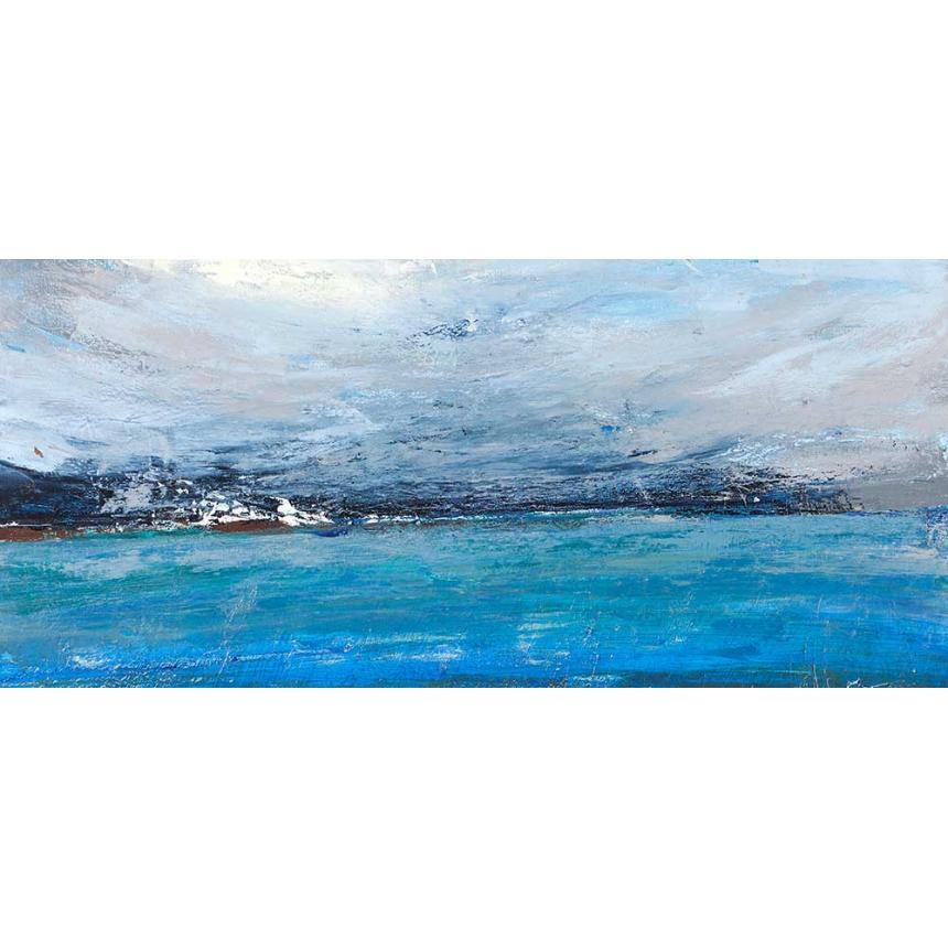 Πίνακας Abstract γαλάζιος ορίζοντας