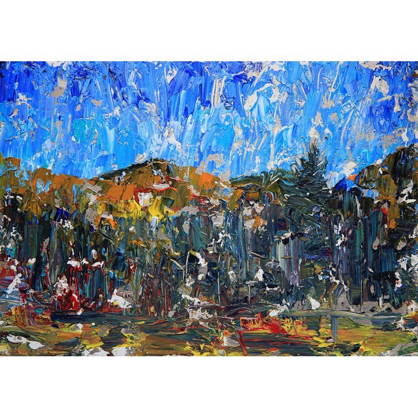 Αφηρημένος Πίνακας abstract στο δάσος