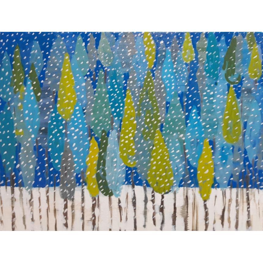 Πίνακας Χιονισμένα δέντρα