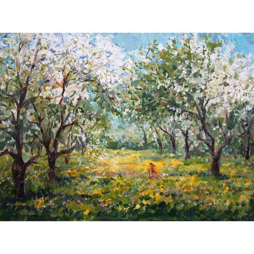 Πίνακας ζωγραφικής Παίζοντας την άνοιξη