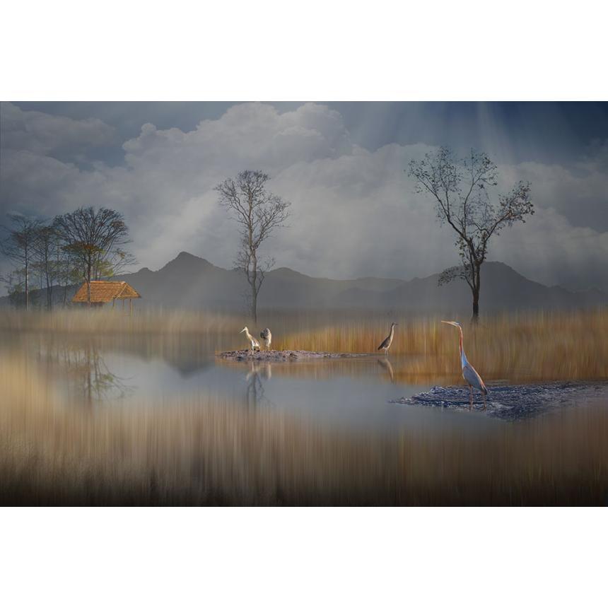 Πίνακας Φθινόπωρο στη λίμνη