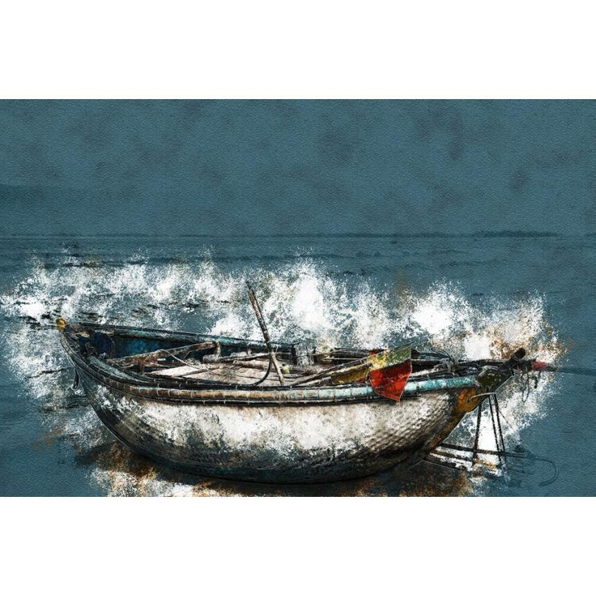 Πίνακας ζωγραφικής Λευκή βάρκα