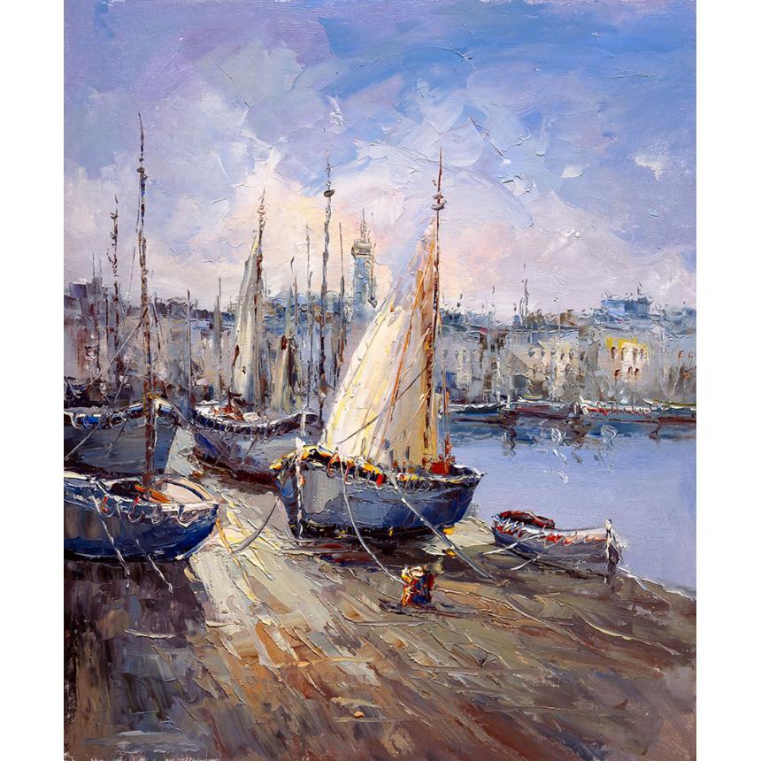 Τοπίο abstract λιμάνι