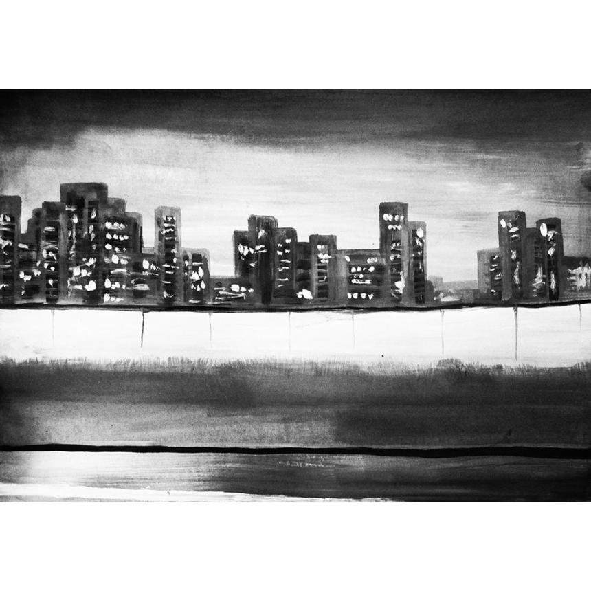 Abstract city BW