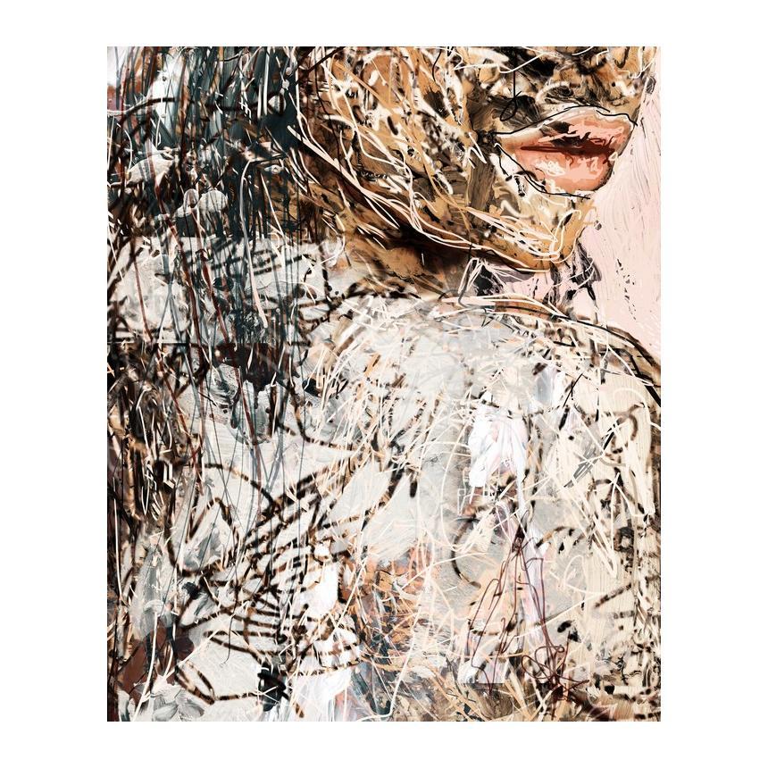 Πίνακας Abstract πρόσωπο Χείλη