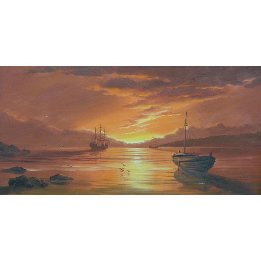 Πίνακας Ηλιοβασίλεμα στον κόλπο