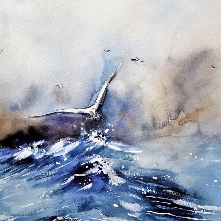 Πίνακας Θάλασσα - γλάρος