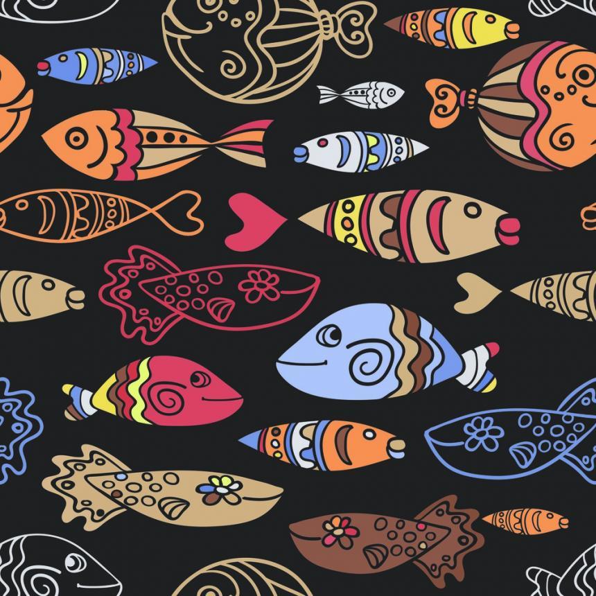 Πίνακας Πολλά ψάρια μαζί