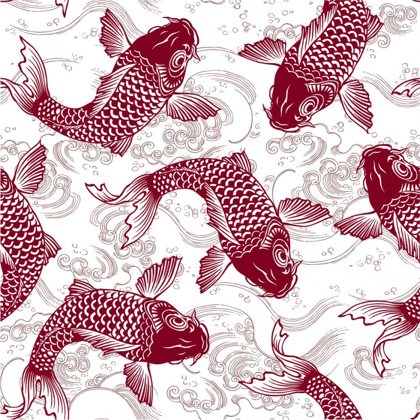 Πίνακας Ψάρια κόκκινα