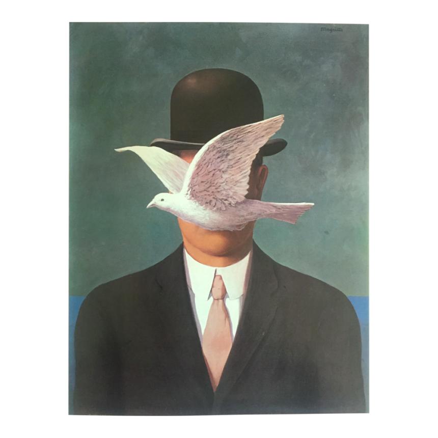 Πίνακας René Magritte 'Ανδρας με ψηλό καπέλο 1964