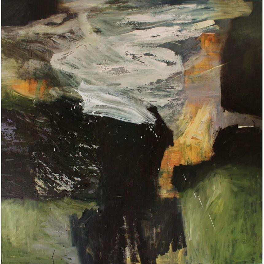 Πίνακας Abstract πράσινο/μαύρο