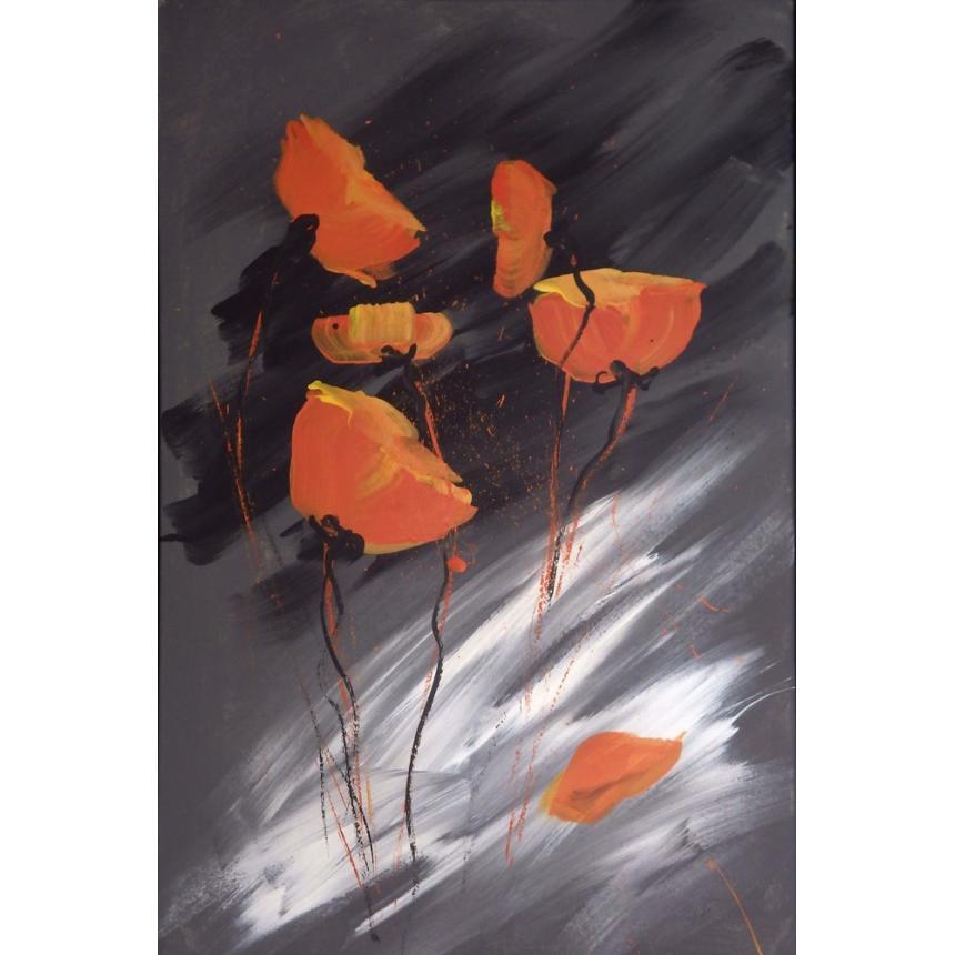 Πίνακας Abstract παπαρούνες