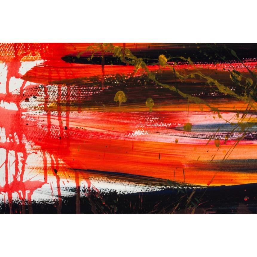 Πίνακας Abstract πορτοκαλί/μαύρο