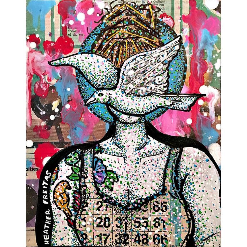 Πίνακας Γύναικα με περιστέρι