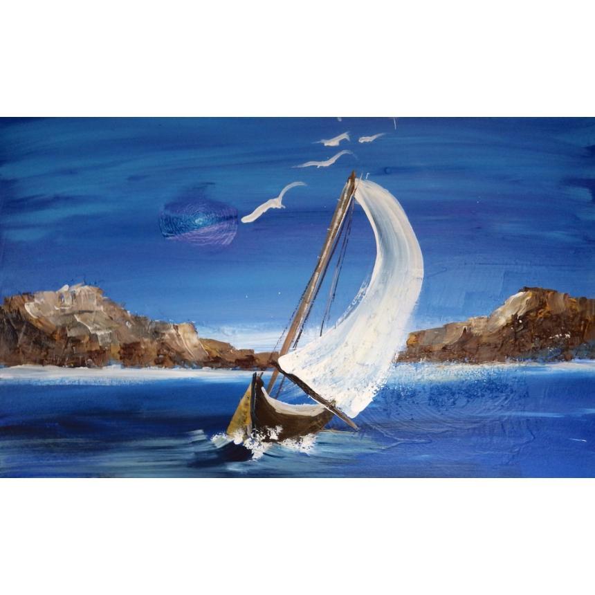 Πίνακας Ιστιοπλοϊκό στη θάλασσα