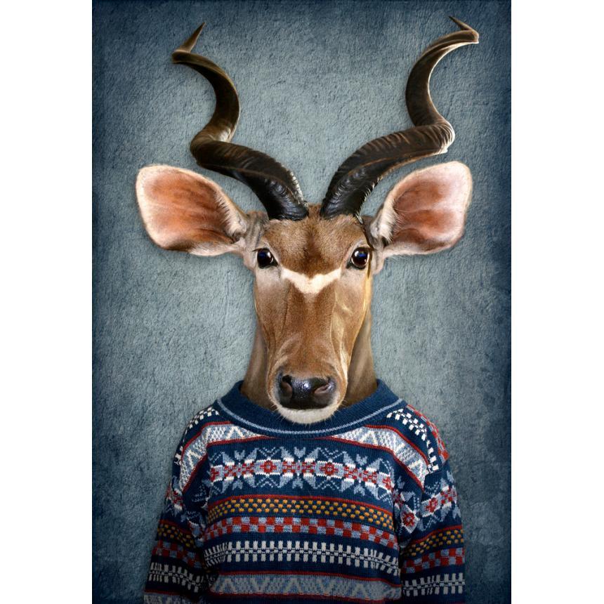 Πίνακας Ελάφι με πουλόβερ