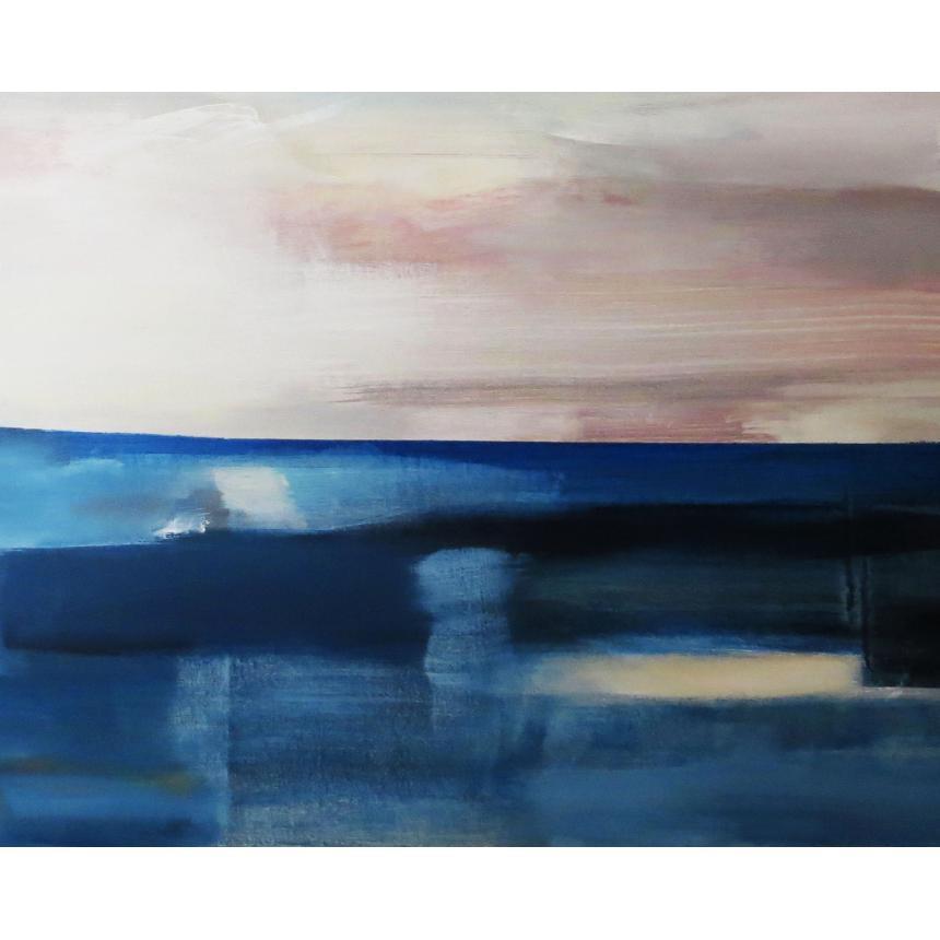Πίνακας Abstract blu ορίζοντας σύννεφα