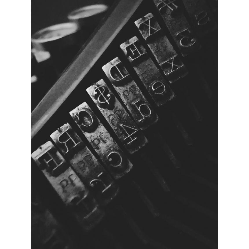 Πίνακας Γραφομηχανή Vintage BW