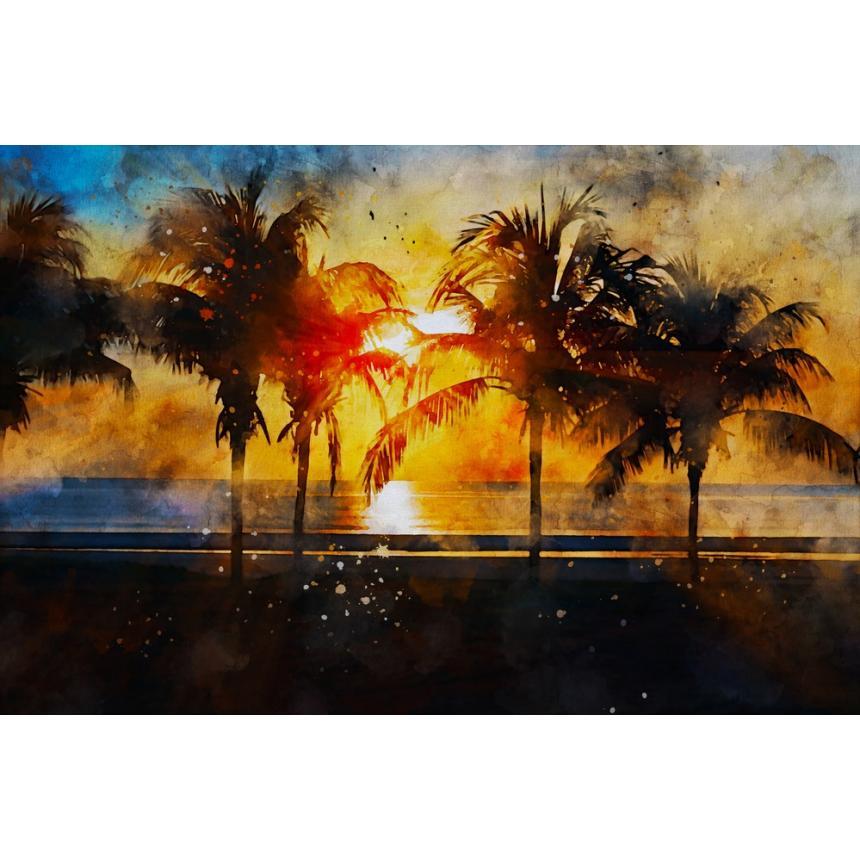 Πίνακας Φοίνικες στη θάλασσα