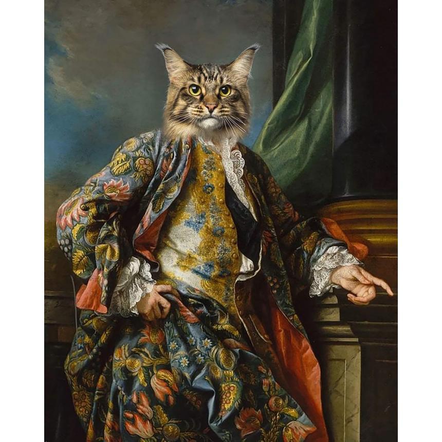 Πίνακας Γάτα με κοστούμι
