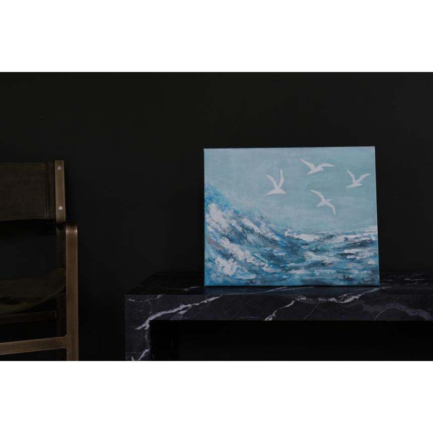Πίνακας πουλία στη θάλασσα