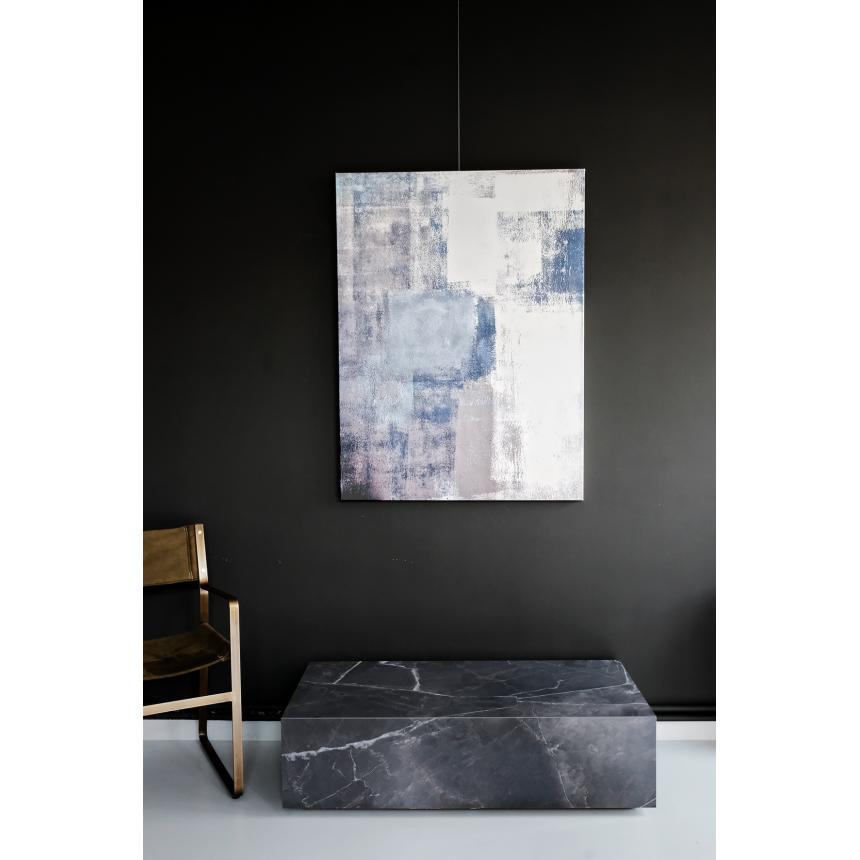 Πίνακας ζωγραφικής Abstract Μπλε Γκρι