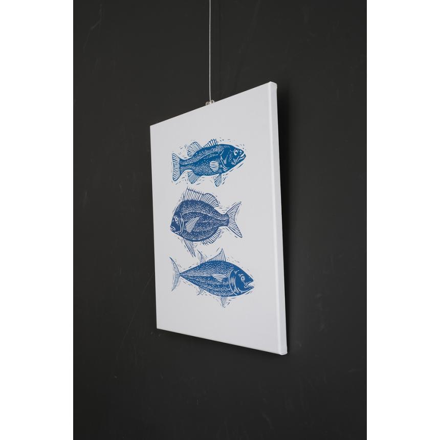 Πίνακας σε καμβά Blue fish