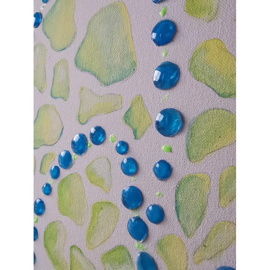 Πίνακας μπλε φούσκες