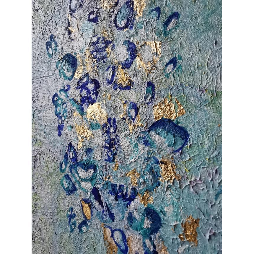Πίνακας abstract θαλασσινά χρώματα