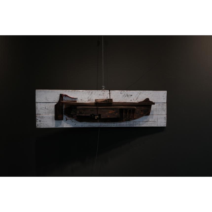 Έργο Τέχνης Καράβι πάνω σε ξύλο