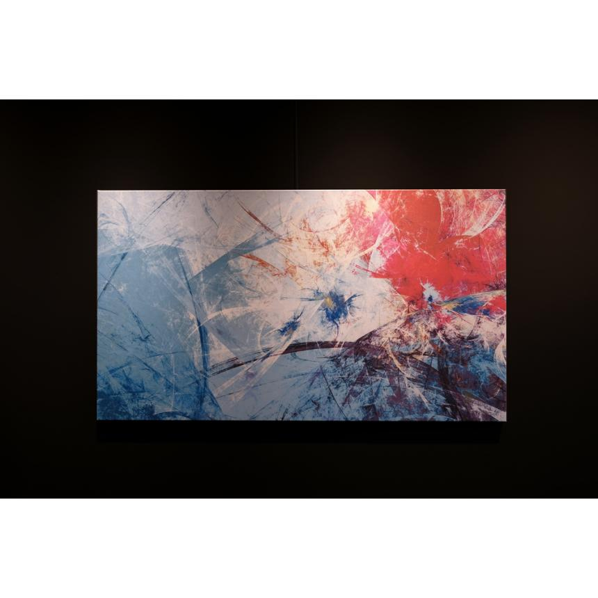 Πίνακας Abstract  blu red
