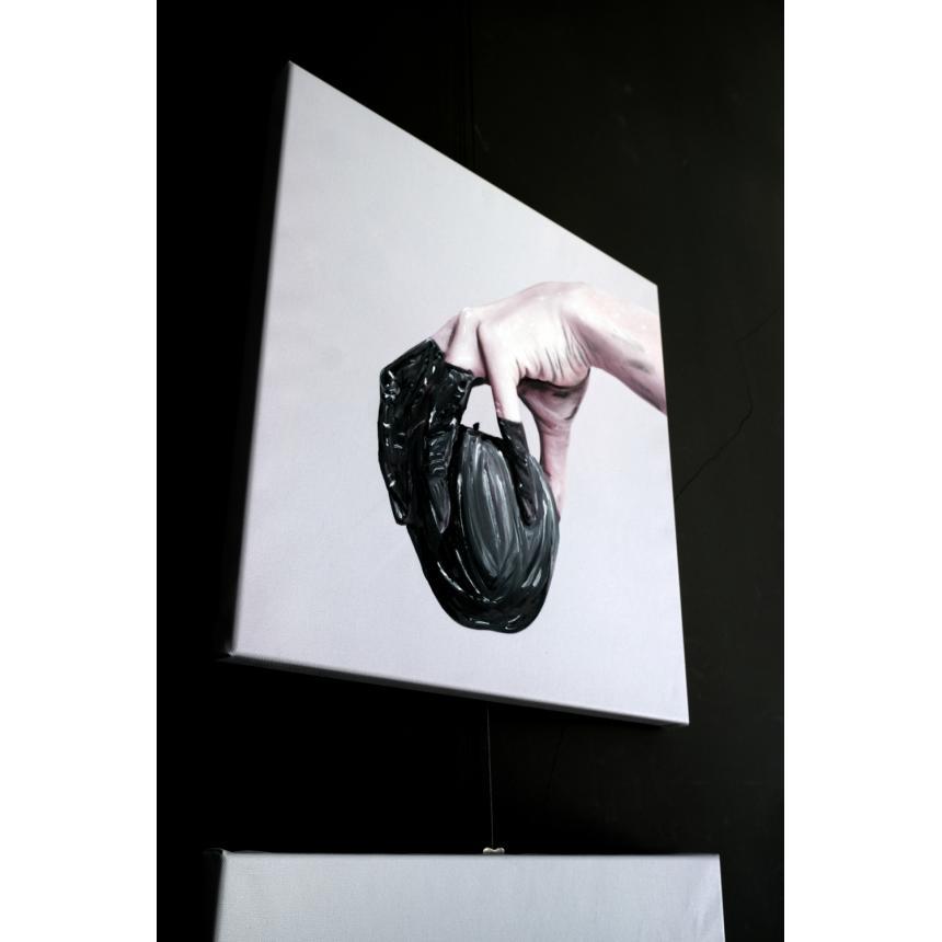 Πίνακας Μήλο - Χέρι BW
