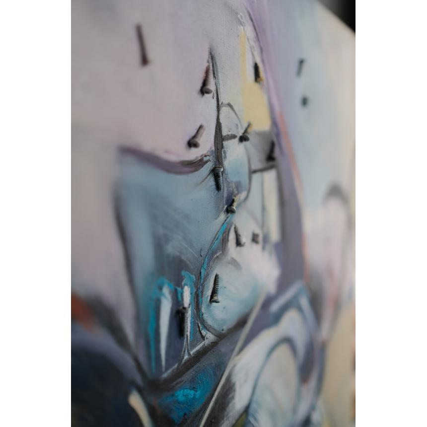 Πίνακες ζωγραφικής ελαιογραφία ''Μηχανή''