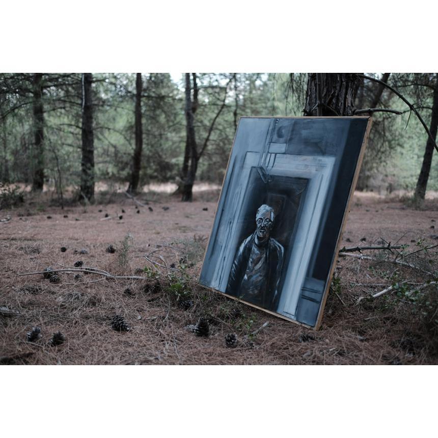 Πίνακας ζωγραφικής ελαιογραφία μοναξιά