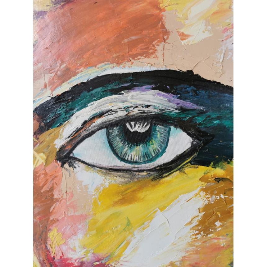 Πίνακας abstract γυναικείο πρόσωπο